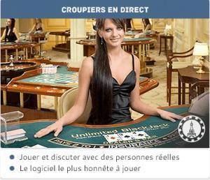 croupiers en direct blackjack